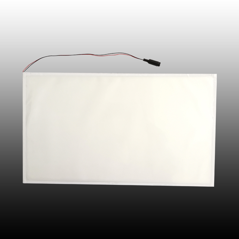 Large LED edge-lit plate with 3M glue tapes on back RS976-A05-00